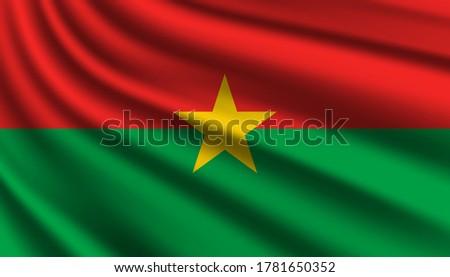 Burkina Faso flag, vector illustration on a white background Stock photo © butenkow