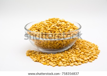 heap of yellow lentils stock photo © zerbor