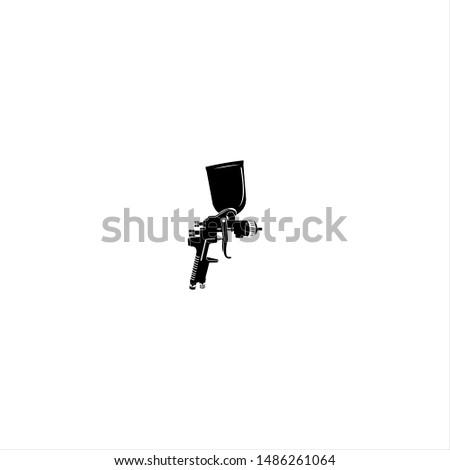 Illusztráció gépfegyver fém fegyver háború fekete Stock fotó © lindwa