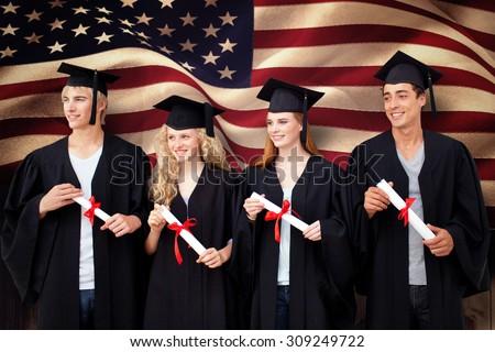 feliz · estudiante · diploma · graduación · educación - foto stock © wavebreak_media