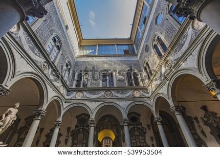 Florence pormenor Itália arte arquitetura vintage Foto stock © boggy