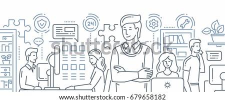 Emberek dolgoznak asszisztens üzlet nő iroda férfi Stock fotó © IS2