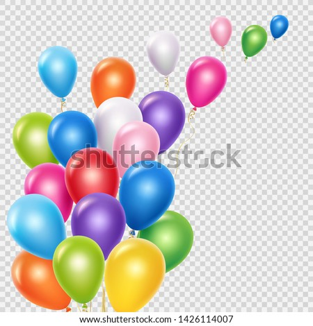 Birthday balloons soaring in air Stock photo © LoopAll