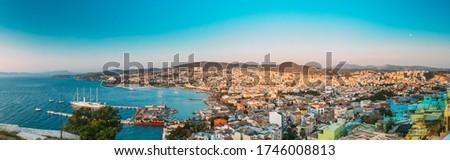 Panoramic view of Kusadasi Stock photo © grafvision