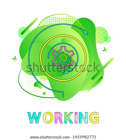 Working, Gear Wheel and Abstract Liquid Backdrop Stock photo © robuart