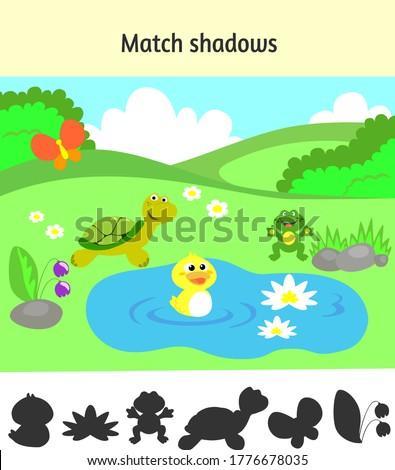 árnyék játék aranyos rajz kacsa oktatási Stock fotó © natali_brill
