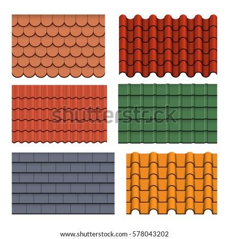 vector set of roof tile Stock photo © olllikeballoon