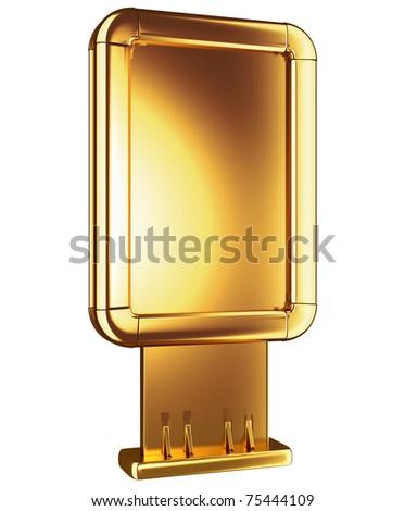 Golden Billboard Or Citylight Isolated Stok fotoğraf © Arsgera
