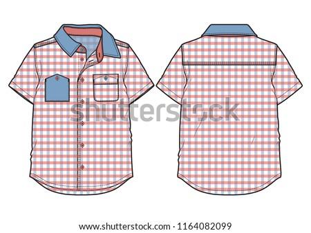 checkered blue shirt with short sleeves Stock photo © RuslanOmega