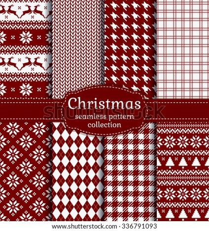 Christmas set, wrapping paper, plaid tartan pattern background Stock photo © Ecelop
