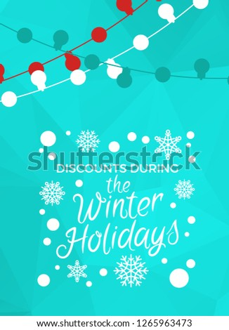 christmas offer and percentages in squares - retro red label Stock photo © marinini