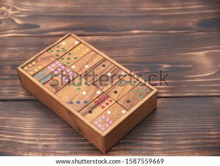 dominó · blanco · cuadro · juguete - foto stock © stoonn