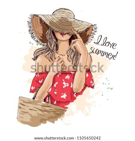 красный сумку женщину свет модель Сток-фото © leonido