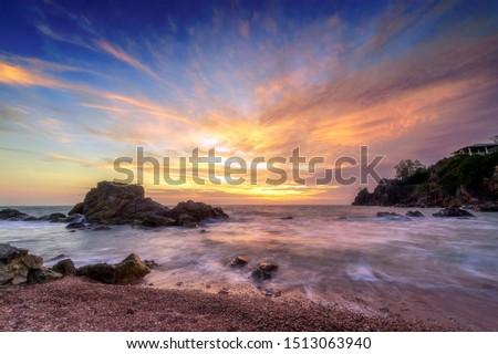 part · Hawaii · USA · tengerpart · tájkép · tenger - stock fotó © iofoto