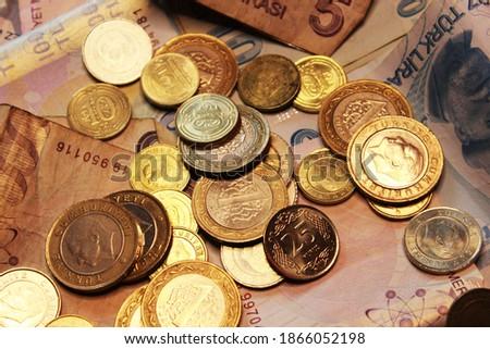 Pound para 10 bağbozumu sepya Stok fotoğraf © michaklootwijk