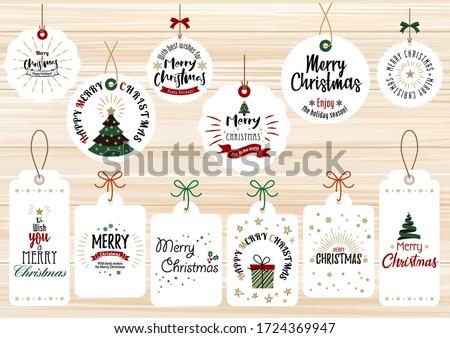 Navidad colección aislado blanco eps10 Foto stock © balasoiu