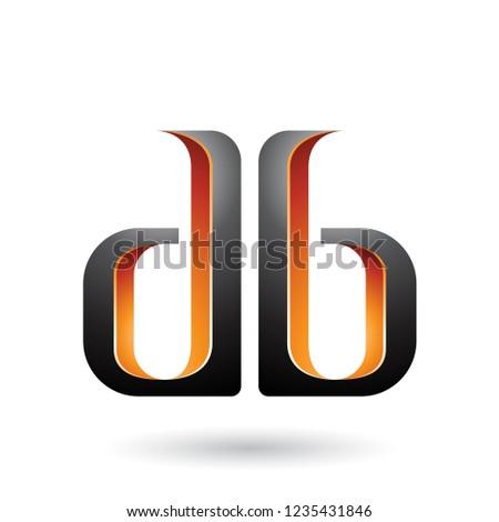 橙 黑色 一倍 信件 向量 孤立 商業照片 © cidepix