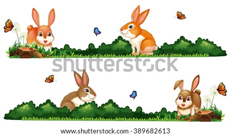 Rabbit living in nature Stock photo © colematt