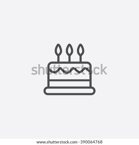 Cake Icon on a White Background Vector Illustration Stock photo © cidepix