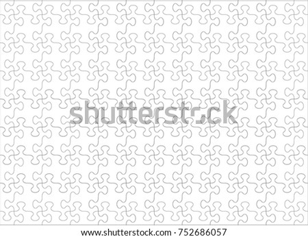 Jigsaw puzzle templates and patterns with whimsically shaped pieces vector illustration ...