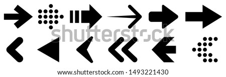 The left and right arrows icon set. Arrows symbol collection. Stock Vector illustration isolated on  Stock photo © kyryloff