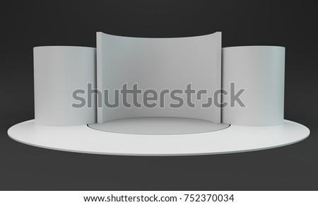 Round promotion stand Stock photo © montego