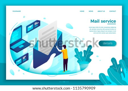 Man Holding in Hands Banner with Open Lettering Stock photo © robuart