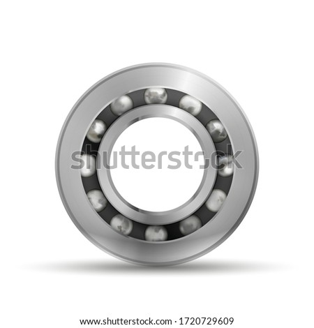 Realistic glossy bearing, detailed mechanism on white Stock photo © evgeny89