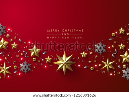 Christmas Decorations in Red and Gold Stock photo © frannyanne