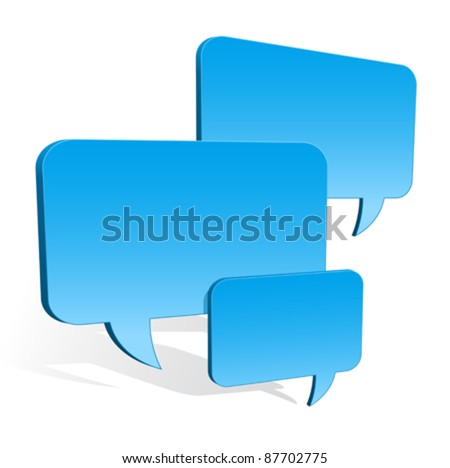 3d speech bubbles collection hovering  Stock photo © adrian_n