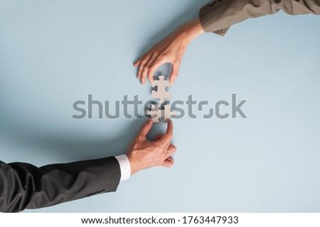 üzletasszonyok · kettő · felfelé · néz · üzlet · nők · munka - stock fotó © aremafoto