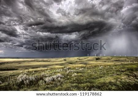 Nubes de tormenta saskatchewan trigo campos cielo naturaleza Foto stock © pictureguy