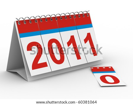 2011 year calendar on white backgroung. Isolated 3D image stock photo © ISerg