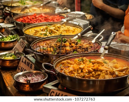 Food at the traditional street market Stock photo © remik44992