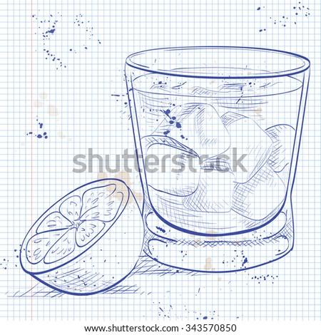 Cocktail portable page vodka liqueur fruits Photo stock © netkov1