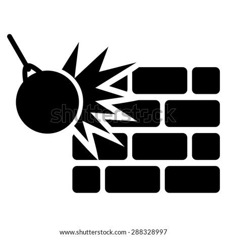 destrucción · icono · negocios · establecer · vector · estilo - foto stock © ahasoft