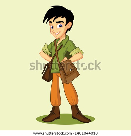 adventure boy Stock photo © toyotoyo