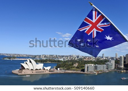 House with flag of australia Stock photo © MikhailMishchenko