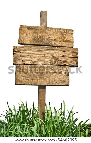 Blank Green Road Sign with Wooden Posts Isolated on a White Back Stock photo © feverpitch