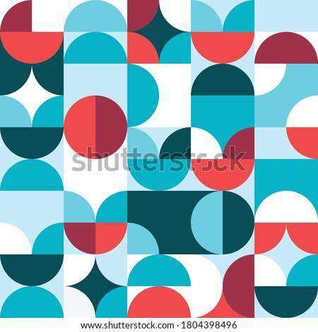 mid century style seamless pattern Stock photo © balasoiu