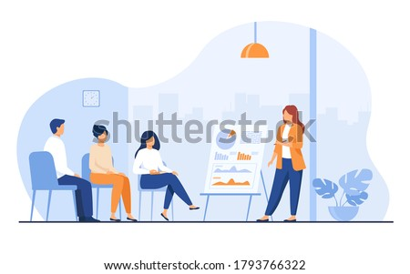 Presenter and Diagram Report, Business Vector Stock photo © robuart