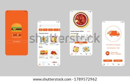 Csomag szállítmány szolgáltatások app interfész sablon Stock fotó © RAStudio
