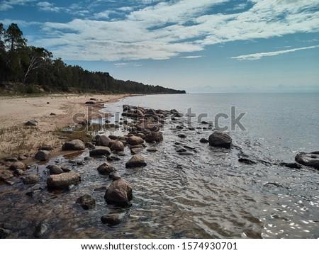 Praia moderno imagem areia da praia céu verão Foto stock © kitch
