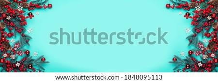 Stockfoto: Sneeuwvlok · Blauw · exemplaar · ruimte · tekst · abstract · natuur