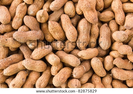 close-up of some peanuts. background Stock photo © ozaiachin