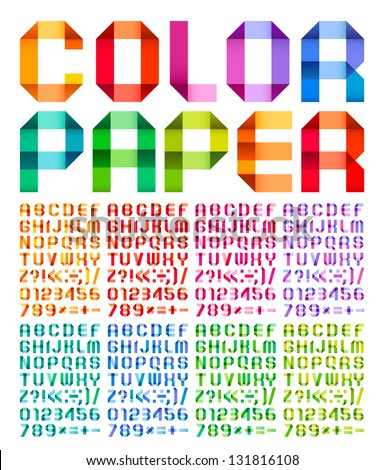 Spectral alphabet folded of paper ribbon colour Stock photo © Ecelop