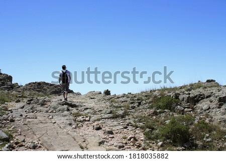 Yol üst uzun tırmanma iş çalışmak Stok fotoğraf © compuinfoto
