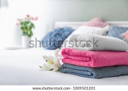 Towel With a Flower Stock photo © kbuntu