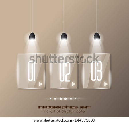 インフォグラフィック デザインテンプレート ガラス 表示 情報 ランキング ストックフォト © DavidArts