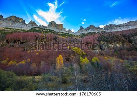 Faja de Pelay in Ordesa valley Pyrenees Huesca Spain Stock photo © lunamarina